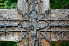 Ανατριχιαστικό παλαιό άγαλμα σιδήρου Στοκ Εικόνες