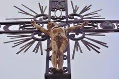 Ανατριχιαστικό παλαιό άγαλμα σιδήρου Στοκ Φωτογραφίες