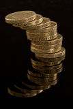 ανατροπή νομίσματος Στοκ φωτογραφίες με δικαίωμα ελεύθερης χρήσης