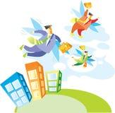 αναχωρήστε γραφείο διακοπών στους εργαζομένους Διανυσματική απεικόνιση