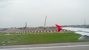 Αναχώρηση από τον αερολιμένα Changi απόθεμα βίντεο