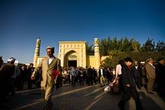 αναχώρηση του μουσουλμανικού τεμένους μουσουλμάνος ατόμων στοκ εικόνα με δικαίωμα ελεύθερης χρήσης
