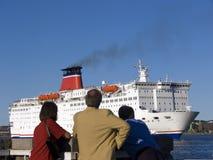 αναχώρηση του σκάφους στοκ εικόνες