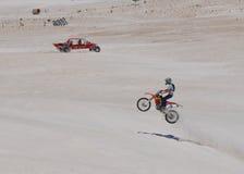 Αναψυχή αμμόλοφων μηχανοκίνητων οχημάτων: Lancelin, δυτική Αυστραλία Στοκ Φωτογραφίες