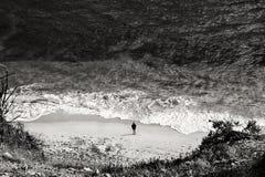 Αναψυχή ανθρώπων στην παραλία του Αλγκάρβε Στοκ Εικόνα