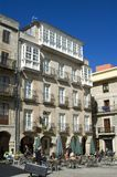 Αναψυχή στο πεζούλι στο ιστορικό κέντρο του Vigo Στοκ Εικόνες