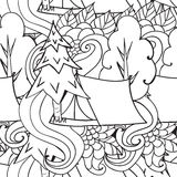 αναψυχή Τουρισμός και στρατοπέδευση Συρμένα χέρι doodle στοιχεία - άνευ ραφής διανυσματική απεικόνιση τμήματα ταξιδιού Στοκ φωτογραφία με δικαίωμα ελεύθερης χρήσης
