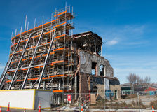 Αναδημιουργία του κτηρίου που καταστρέφεται από έναν σεισμό Στοκ Εικόνα