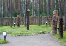 Αναδημιουργία του σλαβικού ειδωλολατρικού ναού Στοκ εικόνα με δικαίωμα ελεύθερης χρήσης