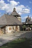 Αναδημιουργία των αγροτικών κτηρίων, του παρατηρητηρίου και της εκκλησίας σε Cossa Στοκ εικόνες με δικαίωμα ελεύθερης χρήσης
