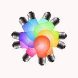 Αναδιοργάνωση βολβών χρώματος Στοκ εικόνες με δικαίωμα ελεύθερης χρήσης