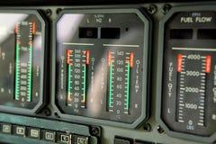 Αναλογικοί μετρητές αεριωθούμενων μηχανών Στοκ Εικόνες