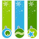 Αναδρομικά κάθετα εμβλήματα σφαιρών Χριστουγέννων Στοκ φωτογραφίες με δικαίωμα ελεύθερης χρήσης
