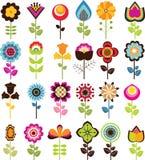 Αναδρομικά λουλούδια Στοκ Φωτογραφία