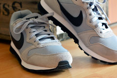 Αναδρομικά πάνινα παπούτσια της Nike Στοκ Εικόνες