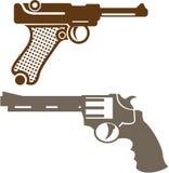 Αναδρομικά πιστόλια ελεύθερη απεικόνιση δικαιώματος