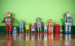 Αναδρομικά ρομπότ Στοκ φωτογραφίες με δικαίωμα ελεύθερης χρήσης