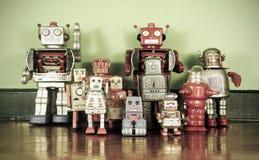 Αναδρομικά ρομπότ Στοκ Εικόνες