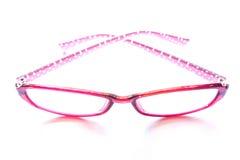 Αναδρομικά ρόδινα γυαλιά μόδας στο άσπρο υπόβαθρο Στοκ φωτογραφία με δικαίωμα ελεύθερης χρήσης