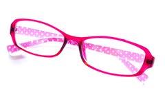Αναδρομικά ρόδινα γυαλιά μόδας στο άσπρο υπόβαθρο Στοκ εικόνα με δικαίωμα ελεύθερης χρήσης