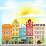 Αναδρομικά σπίτια Στοκ φωτογραφία με δικαίωμα ελεύθερης χρήσης