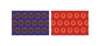 Αναδρομικά σχέδια με τα λουλούδια Στοκ φωτογραφία με δικαίωμα ελεύθερης χρήσης