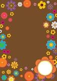Αναδρομικά σύνορα λουλουδιών Στοκ Εικόνες