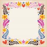 Αναδρομικά σύνορα λουλουδιών Στοκ εικόνα με δικαίωμα ελεύθερης χρήσης