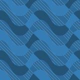 Αναδρομικά τρισδιάστατα μπλε κύματα με τα σκούρο μπλε μέρη Στοκ φωτογραφία με δικαίωμα ελεύθερης χρήσης