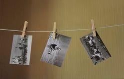 Αναδρομικές γραπτές φωτογραφίες Στοκ Εικόνα
