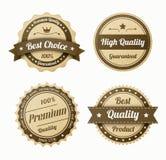 Αναδρομικές εκλεκτής ποιότητας ετικέτες καθορισμένες Στοκ φωτογραφία με δικαίωμα ελεύθερης χρήσης