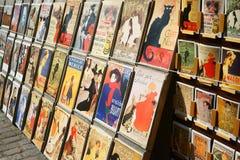Αναδρομικές κάρτες και απεικονίσεις για την πώληση Στοκ εικόνα με δικαίωμα ελεύθερης χρήσης