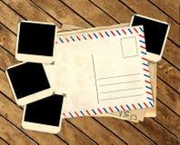 Αναδρομικές φωτογραφίες και παλαιά κάρτα Στοκ φωτογραφίες με δικαίωμα ελεύθερης χρήσης