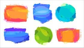 Αναδρομικές χρωματισμένες εκλεκτής ποιότητας ετικέτες Στοκ Φωτογραφίες