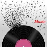 Αναδρομική έννοια μουσικής Στοκ εικόνα με δικαίωμα ελεύθερης χρήσης