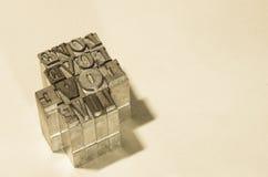Αναδρομική αγάπη λέξης μετάλλων προσθηκών Στοκ φωτογραφία με δικαίωμα ελεύθερης χρήσης