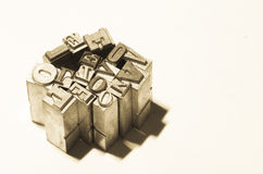 Αναδρομική αγάπη λέξης μετάλλων προσθηκών Στοκ εικόνες με δικαίωμα ελεύθερης χρήσης