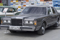 Αναδρομική απελευθέρωση πόλης αυτοκινήτων 1989 του Λίνκολν αυτοκινήτων στοκ εικόνα με δικαίωμα ελεύθερης χρήσης