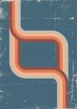 Αναδρομική αφίσα. Διανυσματικό υπόβαθρο χρώματος Στοκ εικόνα με δικαίωμα ελεύθερης χρήσης