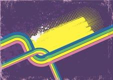 Αναδρομική αφίσα. Διανυσματικό υπόβαθρο χρώματος για το κείμενο Στοκ Εικόνες