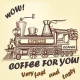 Αναδρομική αφίσα διαφήμισης καφέ Στοκ φωτογραφία με δικαίωμα ελεύθερης χρήσης