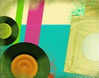 Αναδρομική αφίσα μουσικής. Λαϊκή τέχνη Στοκ Εικόνες