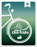 Αναδρομική αφίσα ποδηλάτων τρόπου ζωής. Στοκ Φωτογραφία