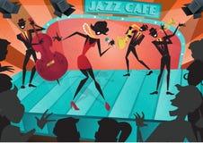 Αναδρομική αφηρημένη αφίσα φεστιβάλ της Jazz Στοκ Εικόνα