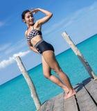 αναδρομική γυναίκα μπανιερών στοκ φωτογραφία με δικαίωμα ελεύθερης χρήσης