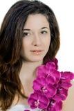 αναδρομική γυναίκα ΧΧ αναθεώρησης s αιώνα ομορφιάς 20 Όμορφο πρότυπο κορίτσι Στοκ Εικόνα