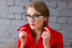 αναδρομική γυναίκα ύφου&sigm Στοκ Εικόνα