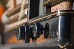 Αναδρομική εικόνα ύφους με το παλαιό ραδιόφωνο Στοκ Φωτογραφία