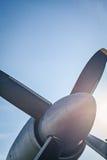 Αναδρομική εκλεκτής ποιότητας λεπτομέρεια προωστήρων αεροπλάνων Στοκ Φωτογραφίες
