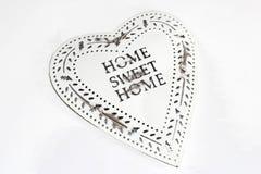 Αναδρομική εκλεκτής ποιότητας καρδιά ύφους, εγχώριο γλυκό σπίτι Στοκ Εικόνες